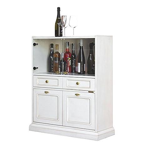 Arteferretto Bar Armario en Blanco pátina para salón/Comedor ...