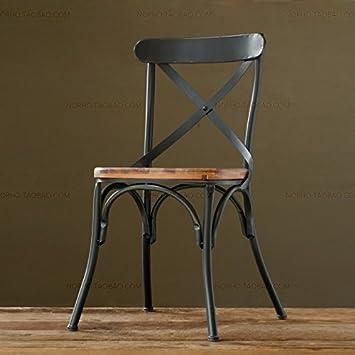 Vintage ferro battuto sedie da pranzo antiche vecchie sedie per ...