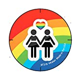Girl Rainbow Button ---(Package Of 2)