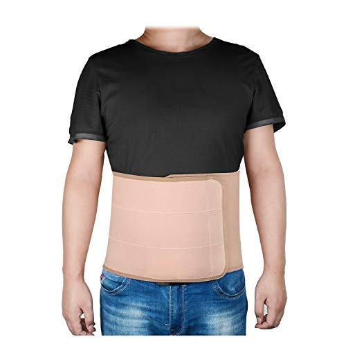 SupreGear Plus Size Abdominal Binder, Adjustable Surgical Elastic Belly Band Waist Binding Wrap for Big Men/Women, Compression Abdominal Brace Support for Post-Operative Care, Pregnancy Support