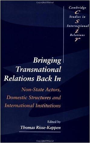 Bringing Transnational Relations In (Cambridge Studies in