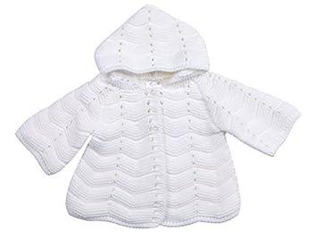 2cb84c6e9 Amazon.com   Babytown Baby Girls Hooded Chunky Crochet Knitted ...