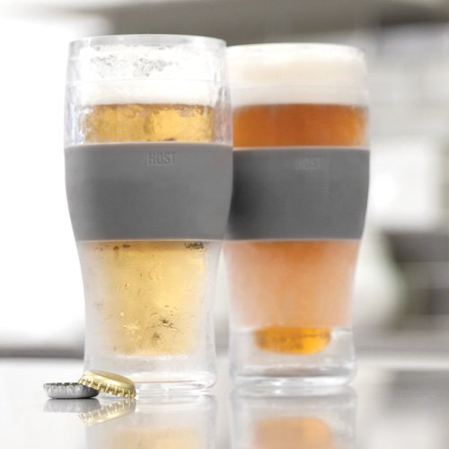HOST 3309/16/Ounce Freeze Cooling Beer Pint Glasses/ /Pl/ástico Clear 19.558/X 2.54/x 18.41/cm