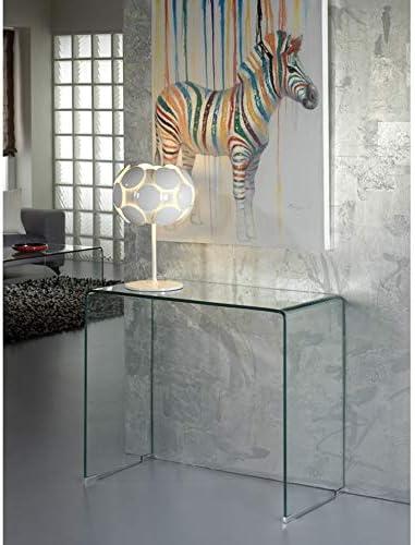 SCHULLER 552431 Mesa Consola Cristal Transparente 40 x 90 x 75 cm ...