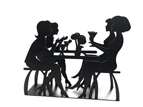 Napkin Holder: Freestanding Tissue Dispenser/Holder; Table Napkin Holder for Home Kitchen Restaurant Picnic Party wedding etc./ Galvanized Décor (Black)
