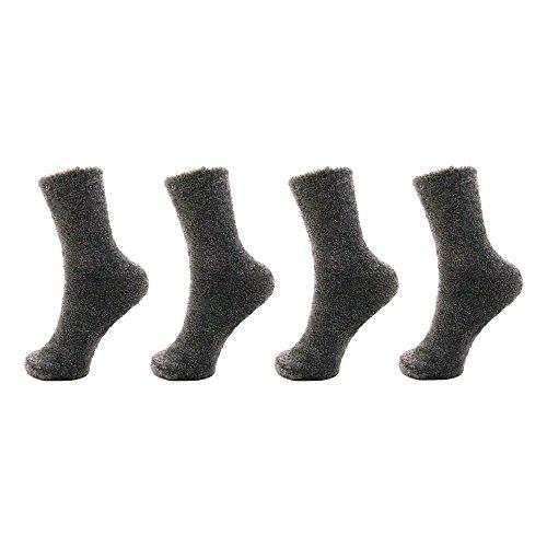 Adult Super SoftFeatherLight Cozy Fun Home Socks - Rail Road Grey - 4 Pair Value - Light Rail 4 Flush