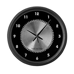 CafePress - Saw Blade - Large 17 Round Wall Clock, Unique Decorative Clock
