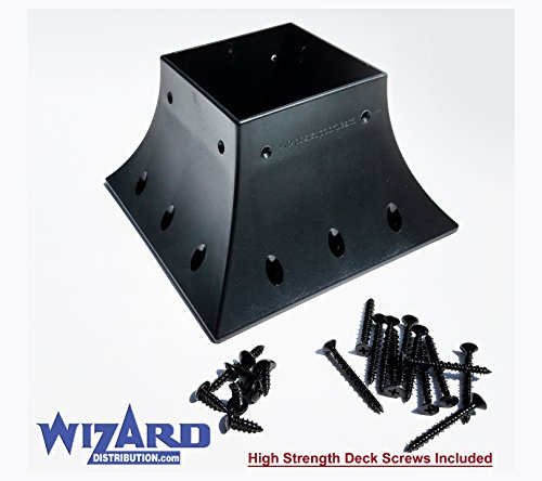 4x4 post support flange handrail support (actual size 3.5