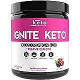 IGNITE KETO Energy Supplement - 12g BHB Salts plus Organic Caffeine - Ketone Drink for Ketosis, Energy, Focus & Weight Loss - Fuel a Ketogenic Diet - Best Beta Hydroxybutyrate Ketones Drink Powder Mix