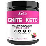 IGNITE KETO Energy Supplement - 12g BHB Salts plus Organic Caffeine - Ketone Drink for Ketosis, Energy, and Focus - Fuel a Ketogenic Diet - Best Beta Hydroxybutyrate Ketones Drink Powder Mix