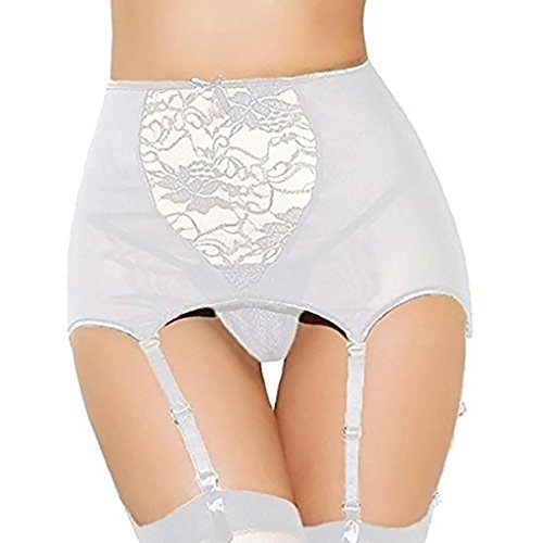 Giarrettiera Calze Regolabile thigh Set Lingerie In Reggicalze Lingerie Pizzo Sysnant highs Bianco donna aWEIP