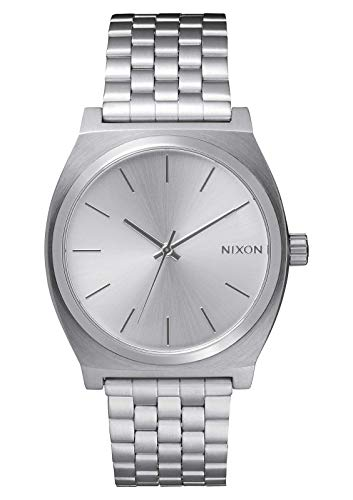 Nixon Time Teller All Silver Women's Watch (37mm. All Silver Face & Metal Band)