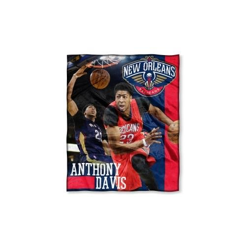 Northwest NOR-1PLY575002011RET New Orleans Pelicans NBA Anthony Davis Silk Touch 50 x 60 Throw by Northwest
