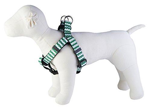 Paw Paws USA Chevron Dog Harness, X-Small, Green