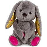 B. toys by Battat – Happy Hues – Sprinkle Bunny – Huggable Stuffed Animal Rabbit Toy – Soft & Cuddly Plush Bunny – Washable – Newborns, Toddlers, Kids, Multicolor, 12 inches