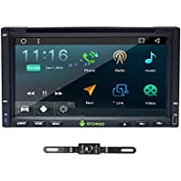 TOCADO In Dash Car DVD Player with GPS Navigation Bluetooth RDS Radio 7 Android 6.0 Double Din Quad-core HD DVD Car Stereo for Universal Car + Backup Camera