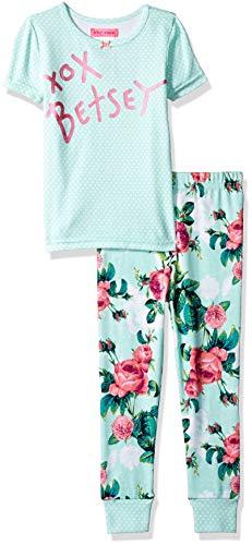 Betsey Johnson Girls' Big 2 Piece Cotton Pajama Set, Botanical Dreams, 4 from Betsey Johnson
