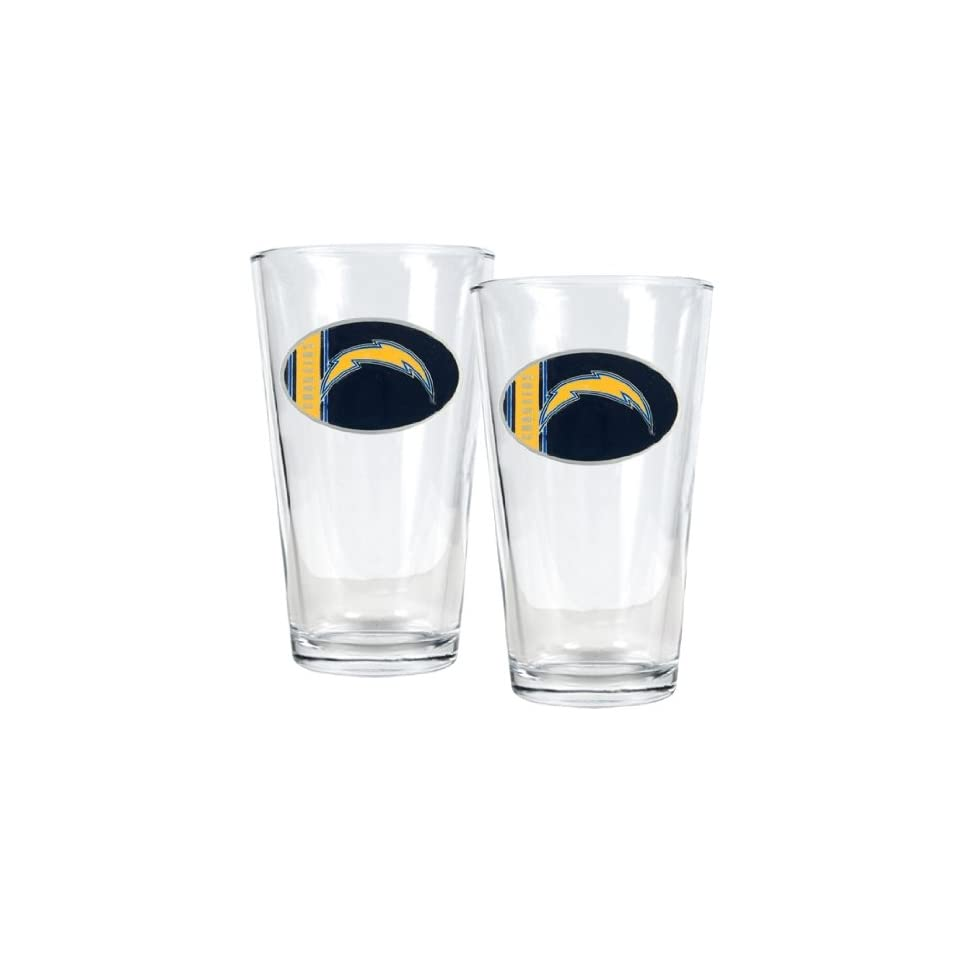 San Diego Chargers   NFL 16oz Pint Glass Gift Set (2 Pack