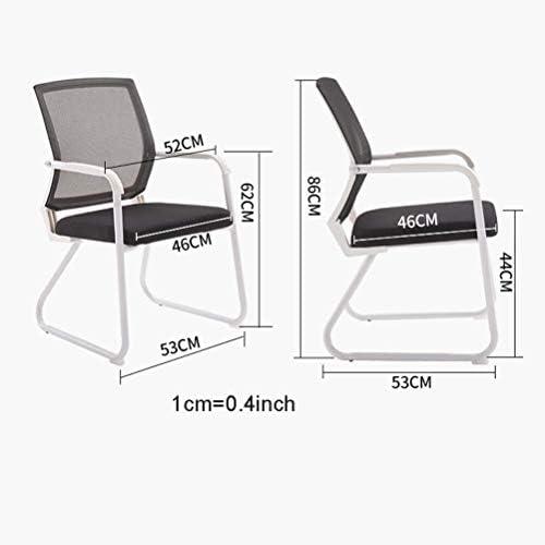 Black Mesh Rotating Chaise de travail, Chaise de bureau for les bureaux permanents, président Travailler avec bras
