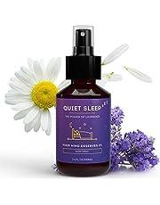 QUIET SLEEP - Kussenspray om in slaap te vallen, lavendelspray voor hoofdkussens, slaapspray als inslaaphulp voor meer regeneratie, rustgevende lavendel kussenspray, Deep Sleep Pillow Spray - 100 ml