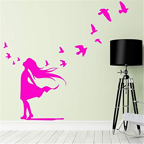 Quotes Vinyl Wall Art Decals Saying Words Removable Lettering French Quote Jolie Petite Fille Et Petits Oiseaux Pretty Little Girl and Little Birds