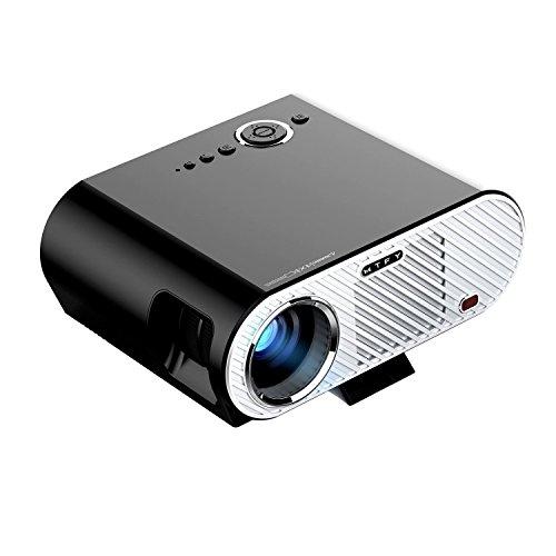 MTFY Projector-3200 Lumens Portable LED HD 1080P Video Projector-Home Theater Projector Support HDMI USB SD VGA AV for PC/Laptop/DVD/TV /Video/Photo/Game/Movie