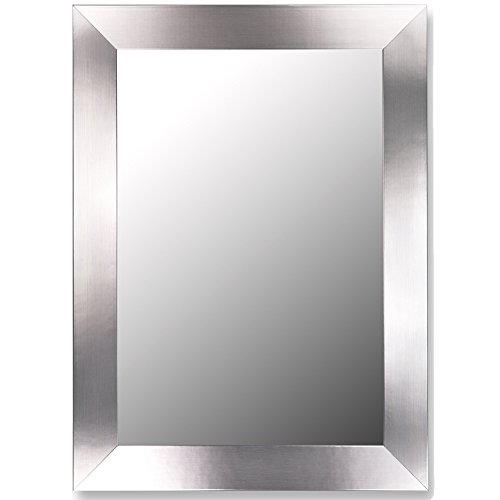 Hitchcock-Butterfield Stainless Flat Framed Wall Mirror, 41