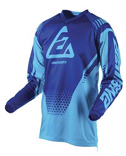 (Answer Racing A19 Syncron Drift Youth Boys Off-Road Motorcycle Jersey - Astana/Reflex Blue/Small)