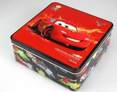 Disney Cars 2 caja de 20 x 8,2 cm cuadrada con diseño de Rayo McQueen: Amazon.es: Hogar