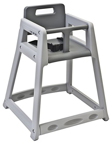 Koala Kare KB850-01-KD Diner Plastic High Chair, Gray (Unassembled), 5