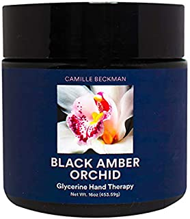 product image for Camille Beckman Glycerine Hand Therapy Cream, Black Amber Orchid, 16 Ounce