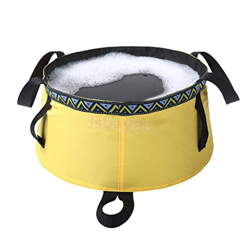 12L Camping Travel Washing Basin Bag Foldable Water Pot Pet Feed Sink Bucket (Alpine Chef Camp Stove)