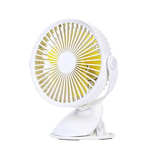 3 Speed-Adjustable Tilt-USB Mini Handheld Fan,Personal Portable Desk Stroller Table Fan Cooling Electric Fan-White