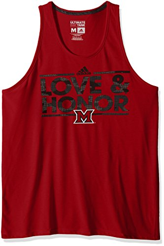 NCAA Miami of Ohio Redhawks Adult Men Dassler Tactical Climalite Ultimate Tank,Small,Red (Redhawks Top)