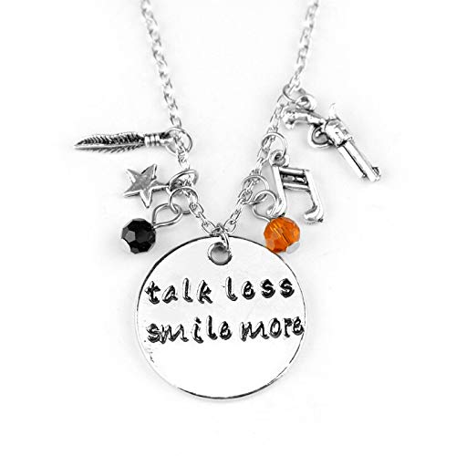 Talk Less Smile More Aaron Burr Alexander Hamilton The Musical Inspired Lyrics Hand Carved Necklace Charm Crystal Beads
