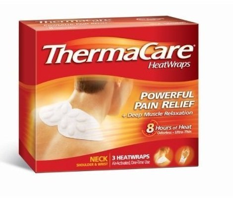 (ThermaCare Air-Activated Neck, Shoulder and Wrist HeatWraps, Powerful Pain Relief Plus Deep Tissue Relaxation - NEW shape for improved fit - 9 HeatWraps)