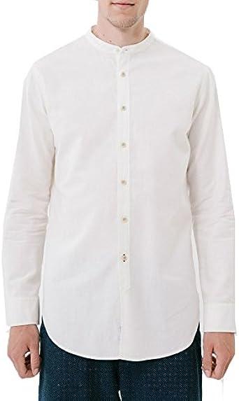 Loreak Mendian Camisa Cuello Mao Neruda L/S Shirt Sarea Ecru: Amazon.es: Ropa y accesorios
