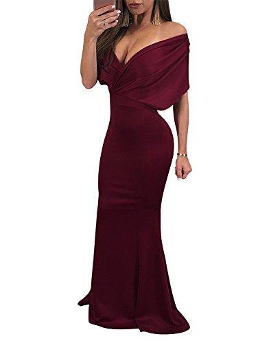 off the shoulder wrap dress - 6