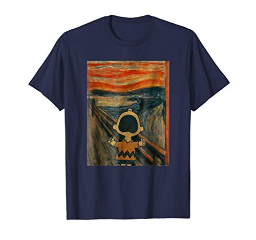 Peanuts Charlie Scream Artsy T-Shirt]()