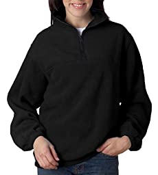 8480 UltraClub Adult UltraClub® Iceberg Fleece 1/4-Zip Pullover (Black) (6XL)