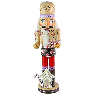 Ornativity Gingerbread Chef Nutcracker Figure - Wooden Ginger Bread Theme Christmas Nutcracker Holiday Decoration