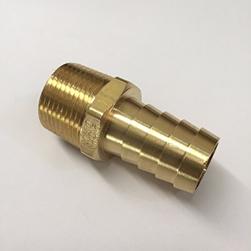 #26, 3/4 Inch Hose Barb x 3/4 Male NPT Brass Adaptor Fitting (Npt Male Union Connector)