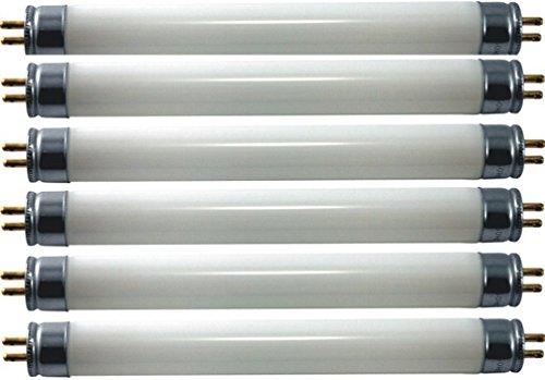 Eiko F8t5cw X6 Model 15510 Cool White Fluorescent Bulb  6 Pack   8 Watts  G5 Base  T 5 Bulb  12 0  305Mm Mol  0 63  16Mm Mod  2 75Mg Mercury Content  Amalgam Hg Form  400 Approx Initial Lumens