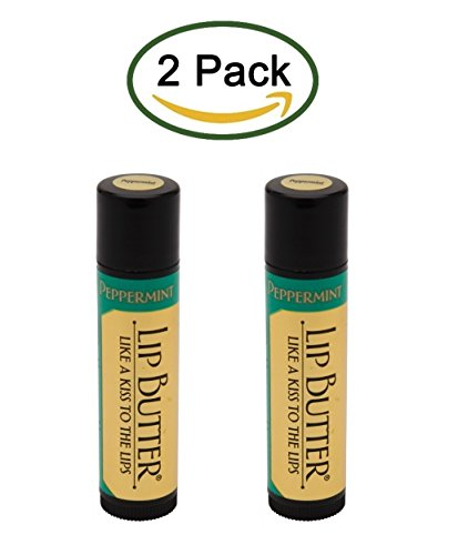 Honey House Naturals Lip Butter, Peppermint, Honey House Naturals (2 Tubes) ()