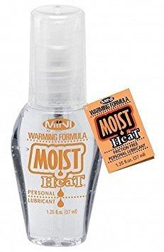 Pipedream Moist Mini Heat Warming Formula Water Based Personal Sex Lubricant Lube Size 1.25 Fl Oz / 37 Ml