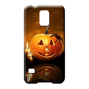 samsung galaxy s5 Protection Bumper series cell phone covers halloween pumpkin candles
