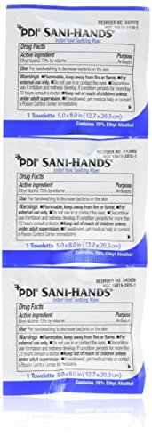 Antimicrobial Hand Sanitizer Wipes - Sani-Hands Hand Sanitizer Wipes 100 Packets Per Box