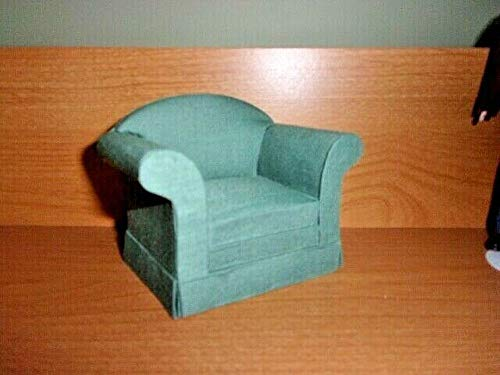 UPHOLSTERED EASY CHAIR - DOLL HOUSE MINIATURE