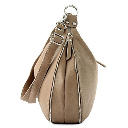 modamoda de - Made in Italy - Bolso cruzados para mujer marrón marrón
