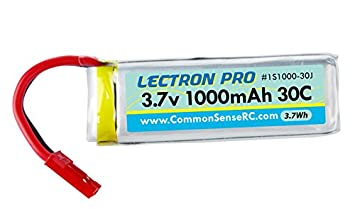 COMMON SENSE RC Lectron Pro 3.7V 1000mAh 30C Lithium Polymer Battery with JST Connector for Dromida Vista and Dromida Ominus Drone